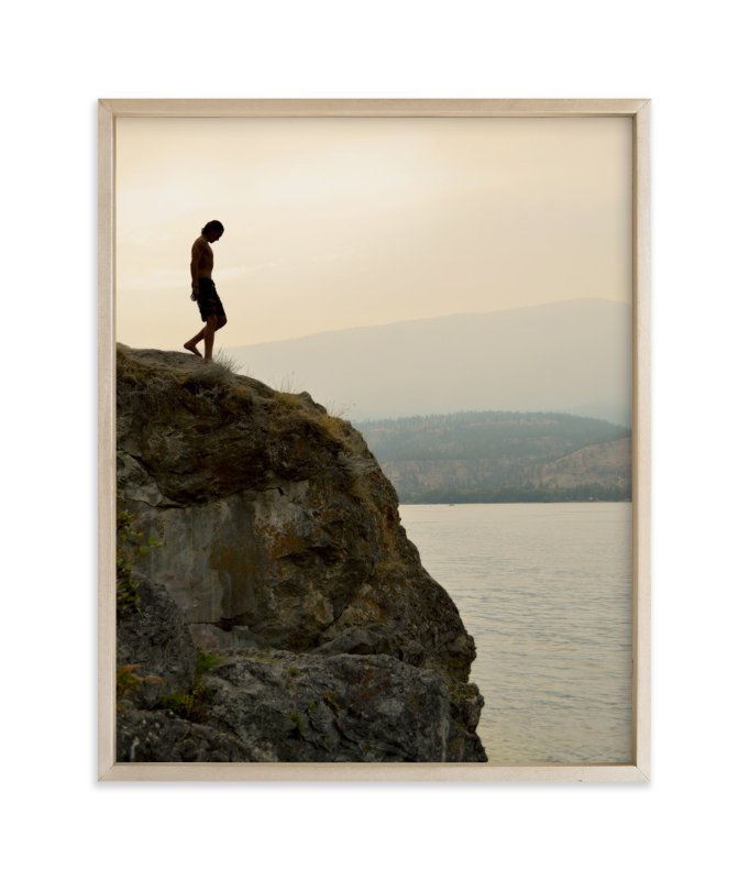 """""""That First Step"""" - Art Print by Shannon in beautiful frame options and a variety of sizes."""