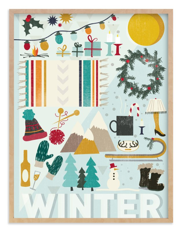 """""""4 Seasons : Winter"""" - Art Print by Kate Capone aka Oh So Suite in beautiful frame options and a variety of sizes."""
