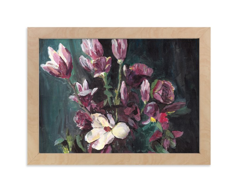 """Magnolia"" - Art Print by XL in beautiful frame options and a variety of sizes."