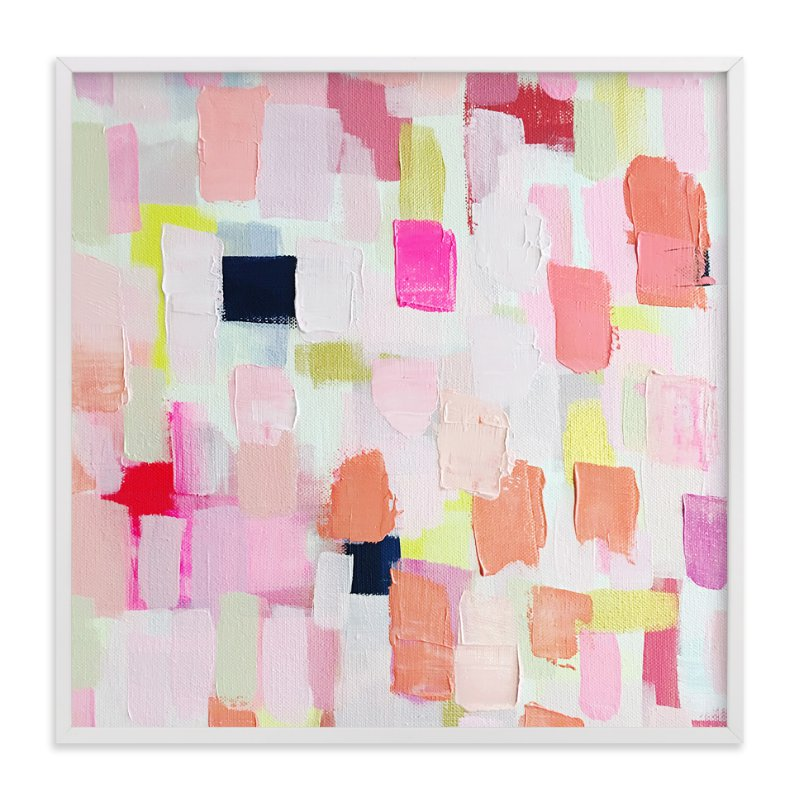 """""""Creamsicle Abstract"""" - Art Print by Melanie Biehle in beautiful frame options and a variety of sizes."""