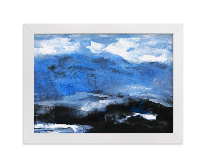 """Stormy Sea Abstract Painting"" - Art Print by Melanie Biehle in beautiful frame options and a variety of sizes."