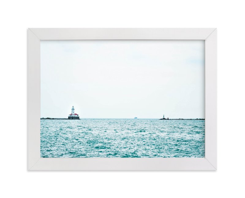 """""""Minimal Lighthouse"""" - Art Print by Vicky Gu in beautiful frame options and a variety of sizes."""