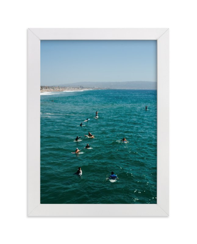 """Beach III"" - Art Print by Jennifer Little in beautiful frame options and a variety of sizes."