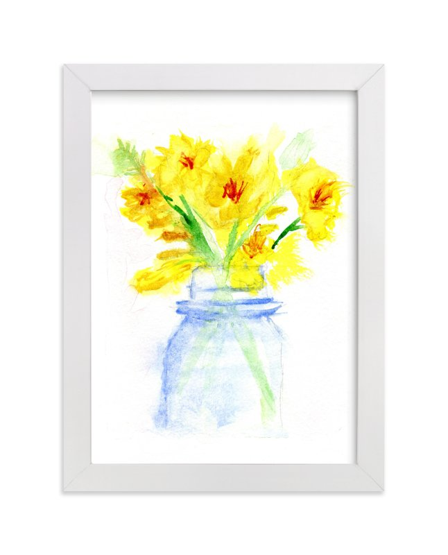 """Petite Bouquet"" - Art Print by Aimee Siberon in beautiful frame options and a variety of sizes."