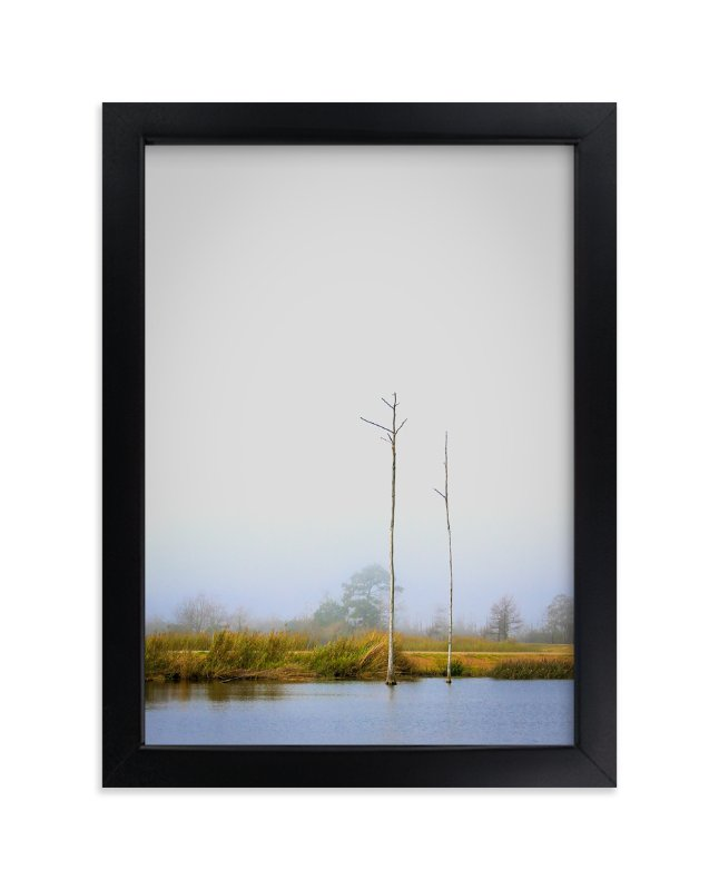 """Foggy Bayou"" - Art Print by Mary Ann Glynn-Tusa in beautiful frame options and a variety of sizes."
