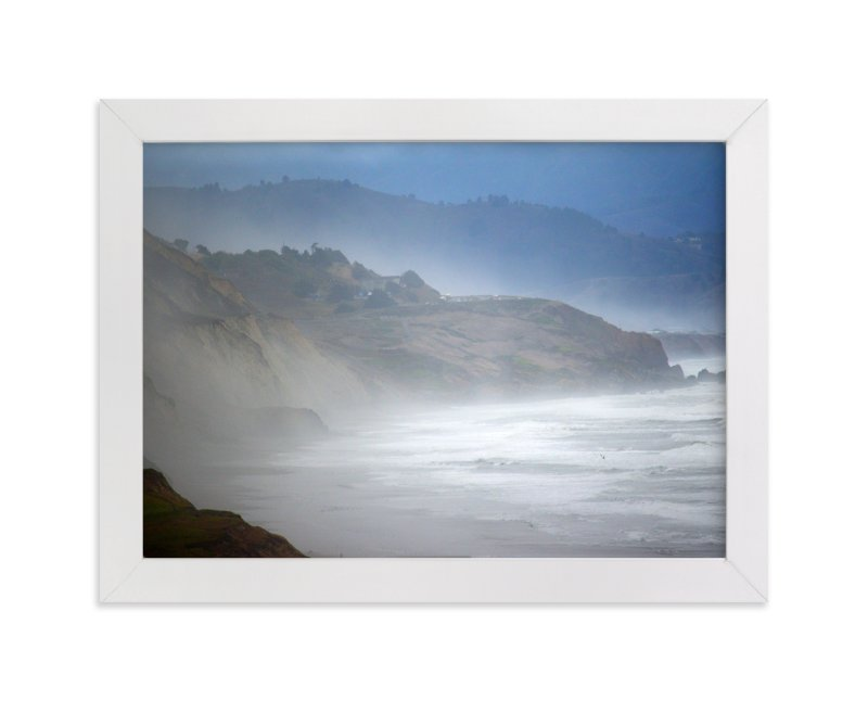 """Foggy Pacific"" - Art Print by NSMARK in beautiful frame options and a variety of sizes."