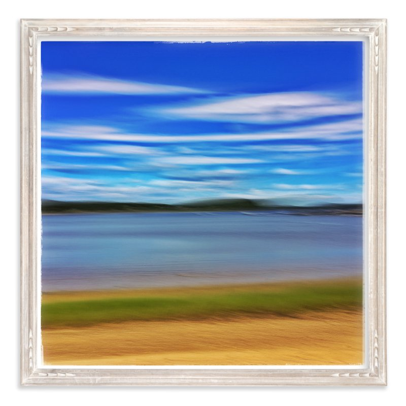 """""""Abstract Beachscape"""" - Art Print by Andy Mars in beautiful frame options and a variety of sizes."""