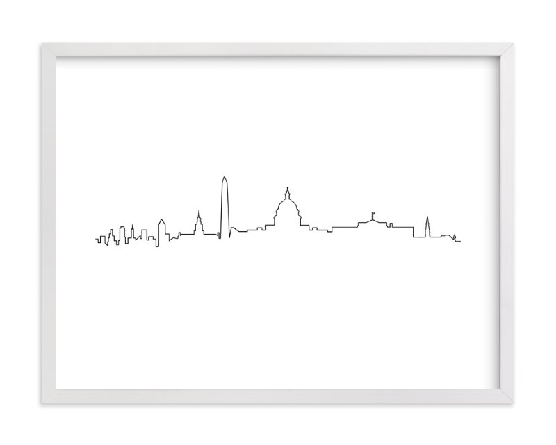"""""""Washington DC"""" - Art Print by Erin Deegan in beautiful frame options and a variety of sizes."""