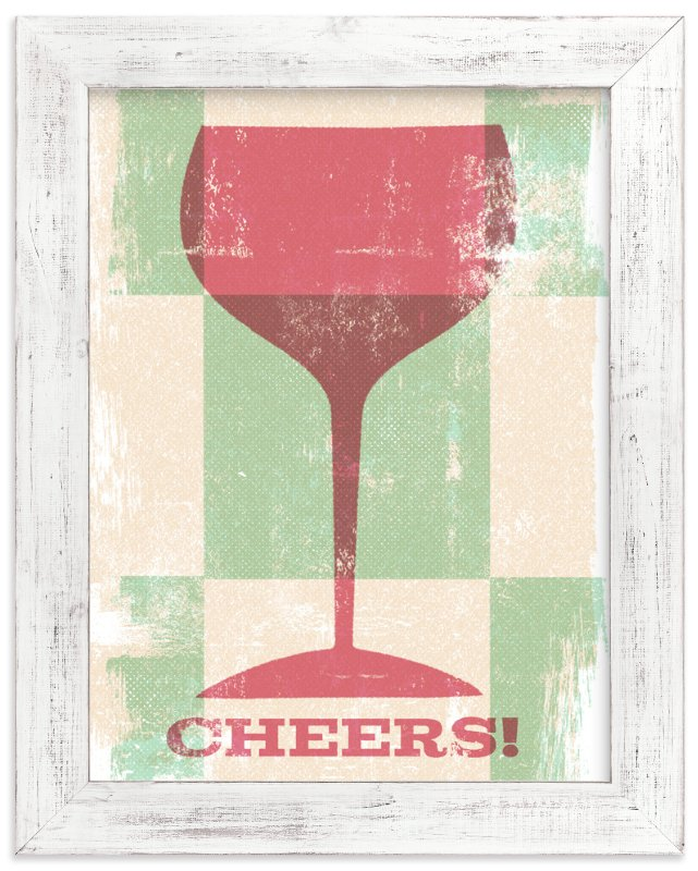 """""""Dusty Wine"""" - Art Print by Anne Crosse in beautiful frame options and a variety of sizes."""