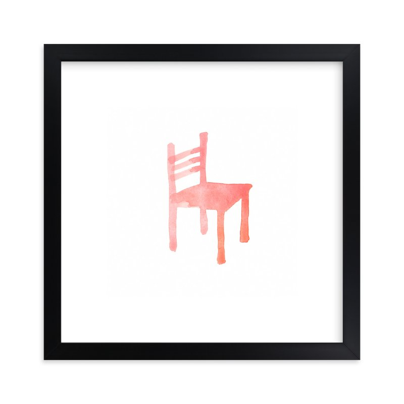 """Theo's Chair"" - Art Print by Vanessa Rossi Design in beautiful frame options and a variety of sizes."