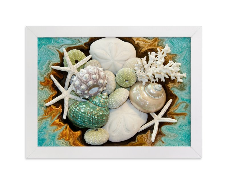 """""""Sea Shell Swirls"""" - Art Print by Debra Butler in beautiful frame options and a variety of sizes."""