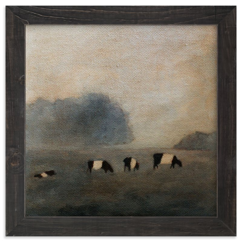 """""""Cows in the Mist"""" - Art Print by claire whitehead in beautiful frame options and a variety of sizes."""