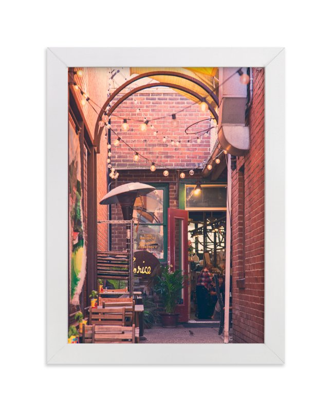 """""""Brick Hideaway"""" - Art Print by Erin Niehenke in beautiful frame options and a variety of sizes."""
