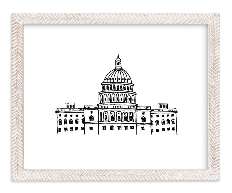 """""""Around the World Washington D.C."""" - Art Print by Olive and Me Studios in beautiful frame options and a variety of sizes."""