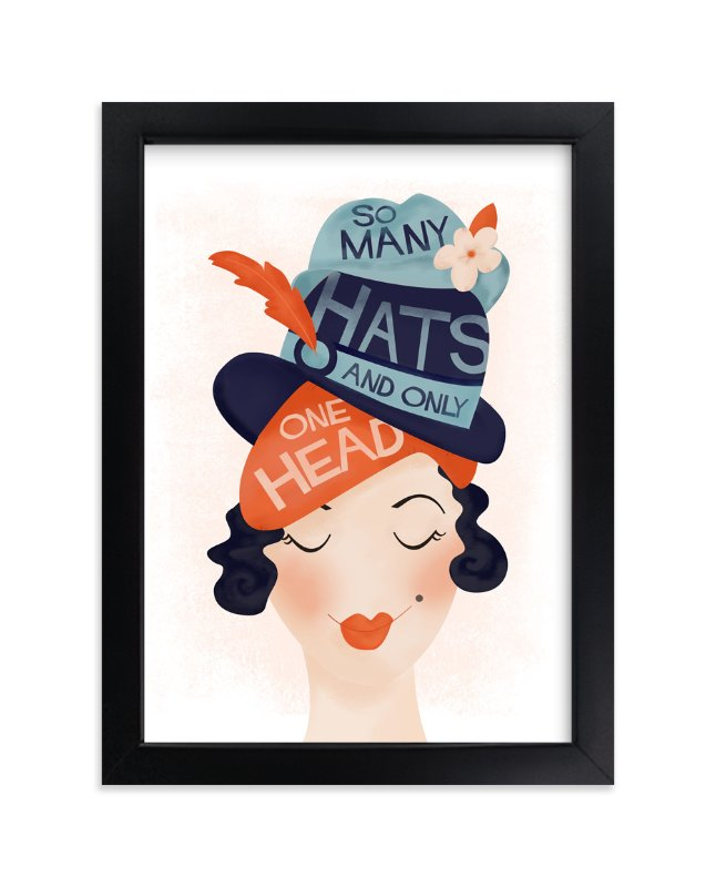 """Chapeau"" - Art Print by Pistols in beautiful frame options and a variety of sizes."
