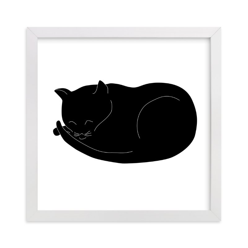 """Morning Cat Nap"" - Art Print by Gaucho Works in beautiful frame options and a variety of sizes."