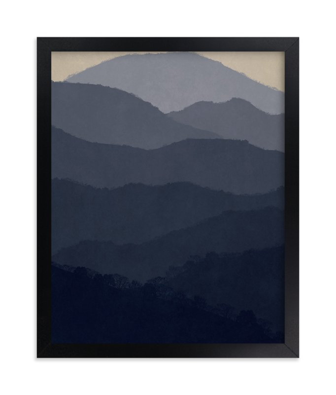 """At Home in the Mountains"" - Art Print by Dawn Jasper in beautiful frame options and a variety of sizes."