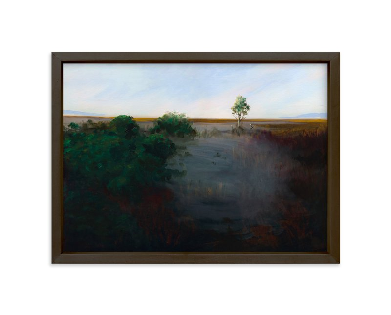 """""""Misty Shoreline"""" - Art Print by Robert Deem in beautiful frame options and a variety of sizes."""