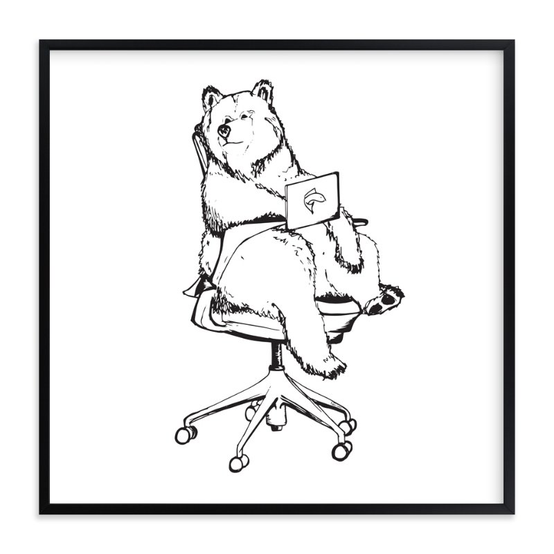 """Sayl Chair Bear"" - Art Print by Flume Design in beautiful frame options and a variety of sizes."