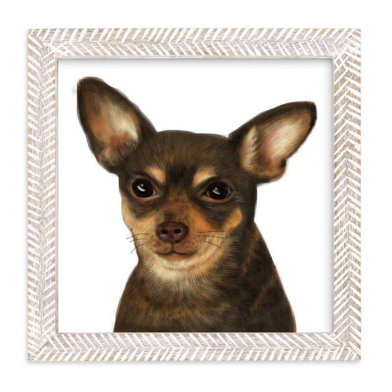 """""""Chihuahua"""" - Art Print by iamtanya in beautiful frame options and a variety of sizes."""