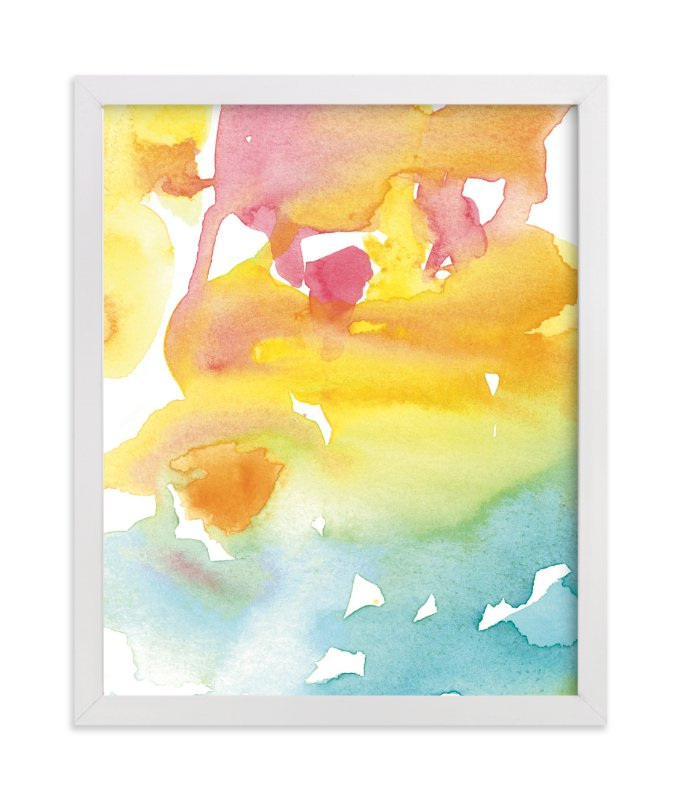 """""""Pink into Blue Night Sky"""" - Art Print by Deborah Velasquez in beautiful frame options and a variety of sizes."""