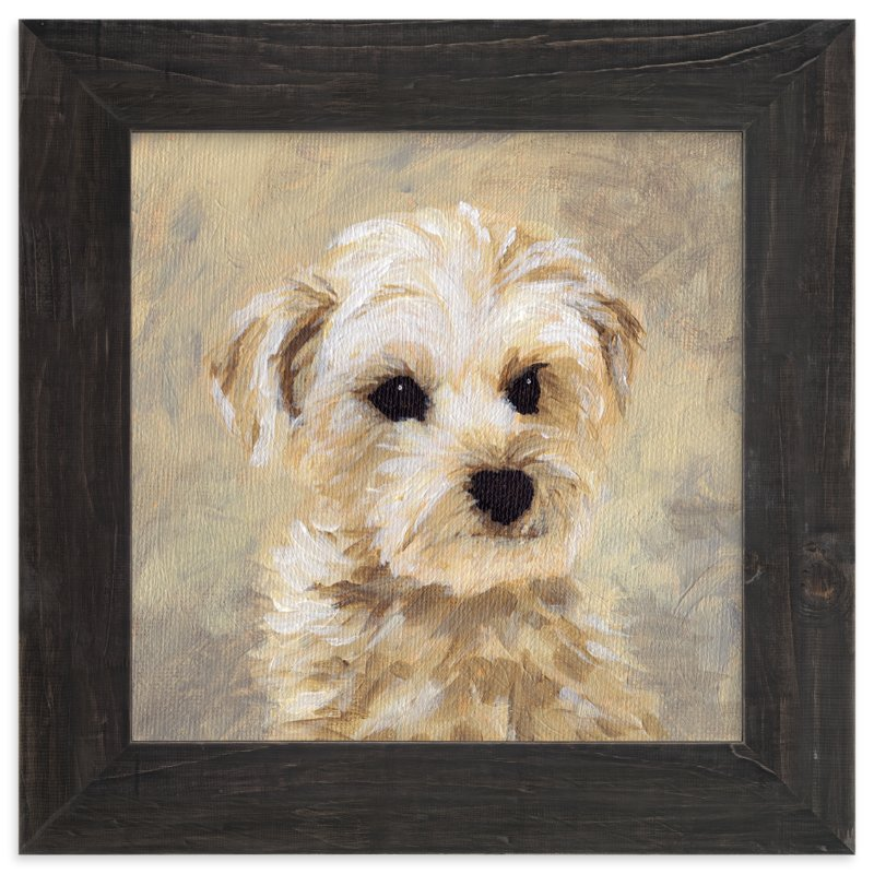 """Yorkie Love II"" - Art Print by Iron Range Artery in beautiful frame options and a variety of sizes."
