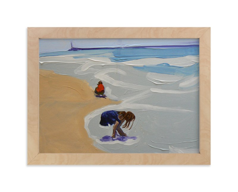 """""""Zachary and Violet Oxnard I"""" - Art Print by Annie Seaton in beautiful frame options and a variety of sizes."""