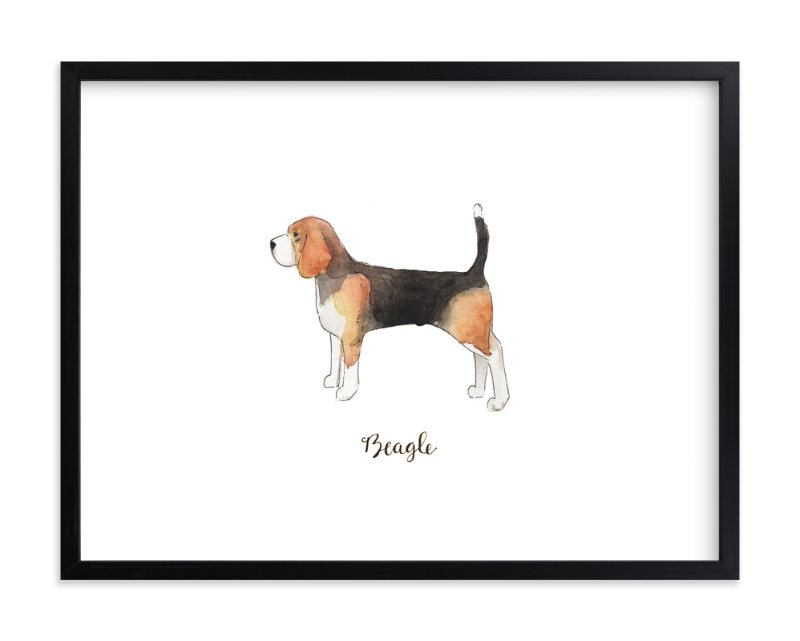 """Beagle"" - Art Print by Megan Kelso in beautiful frame options and a variety of sizes."