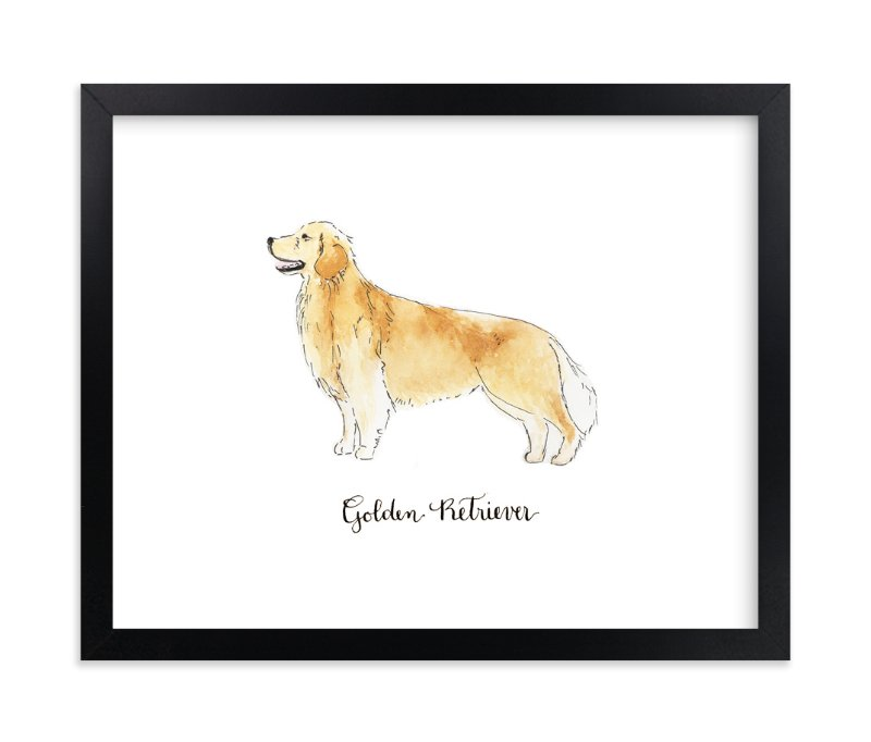 """""""Golden Retriever"""" - Art Print by Megan Kelso in beautiful frame options and a variety of sizes."""