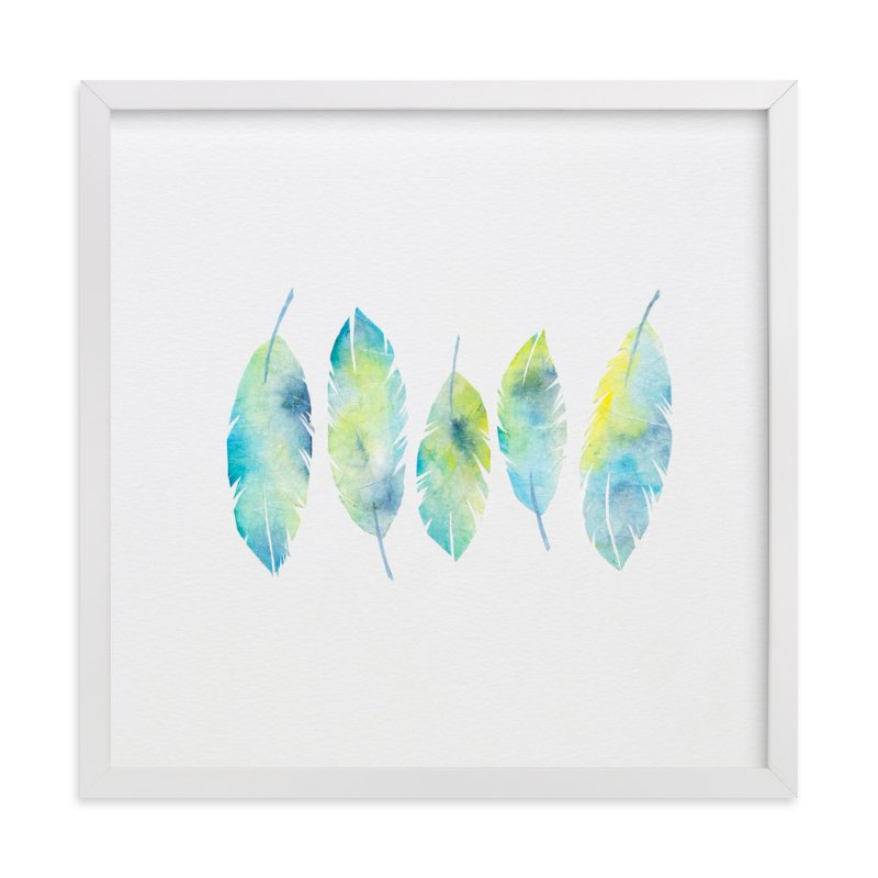 """""""Feathers Collage"""" - Art Print by Mia Posada in beautiful frame options and a variety of sizes."""