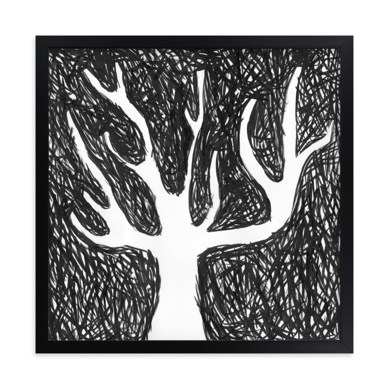 """""""Black Tree"""" - Art Print by Kim Johnson in beautiful frame options and a variety of sizes."""