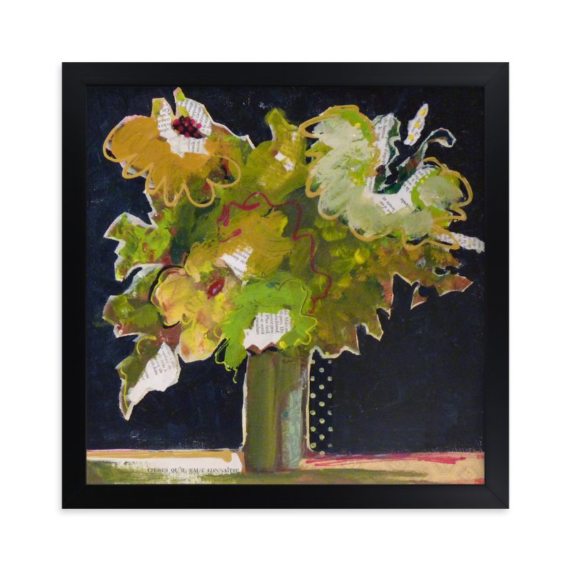 """""""Bouquet de choses """" - Art Print by Johanne Roy in beautiful frame options and a variety of sizes."""