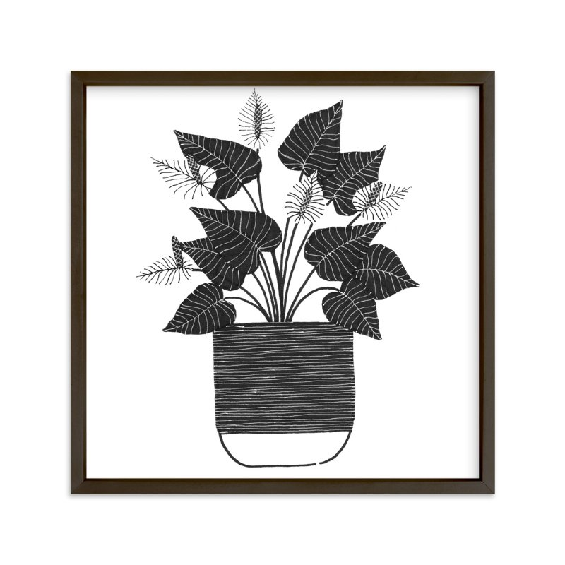 """""""A Simple Anthurium"""" - Art Print by Madeline Trait in beautiful frame options and a variety of sizes."""