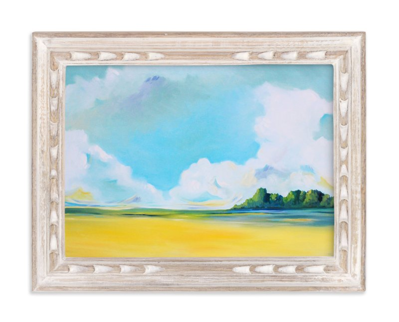 """""""Delta Fields"""" - Art Print by Megan Kelley in beautiful frame options and a variety of sizes."""