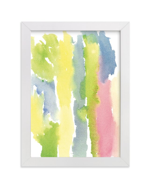 """""""Bands of Colored Sky"""" - Art Print by Deborah Velasquez in beautiful frame options and a variety of sizes."""