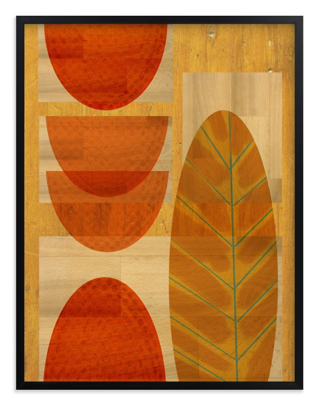 """""""Mid-Century Woods"""" - Art Print by Anne Crosse in beautiful frame options and a variety of sizes."""