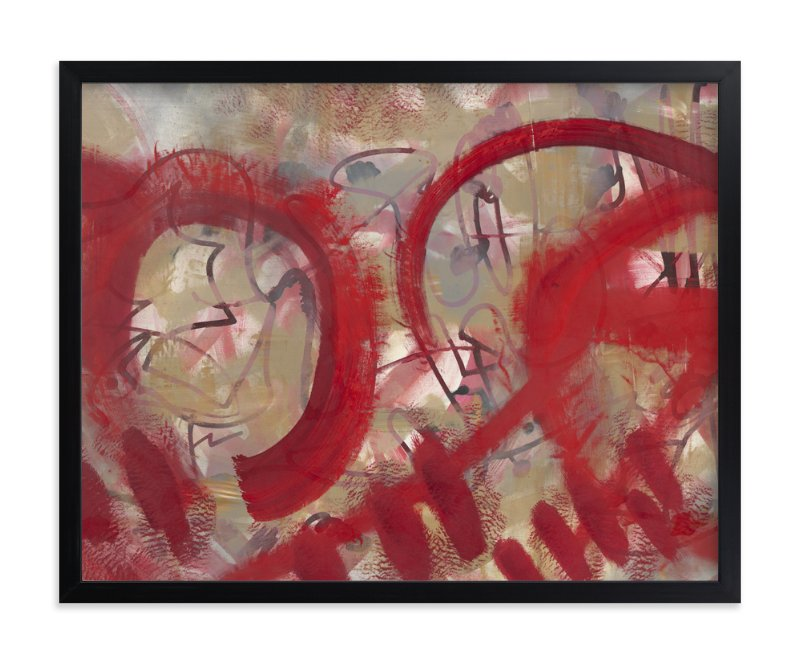 """Red Reeling Complete"" - Art Print by Angela Simeone in beautiful frame options and a variety of sizes."