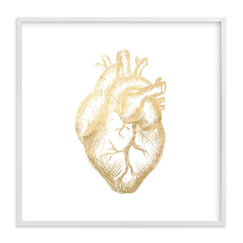 """""""Heart of Gold."""" - Art Print by hey paper moon in beautiful frame options and a variety of sizes."""