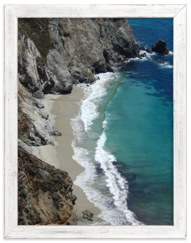 """""""Big Sur Waves"""" - Art Print by Jan Kessel in beautiful frame options and a variety of sizes."""