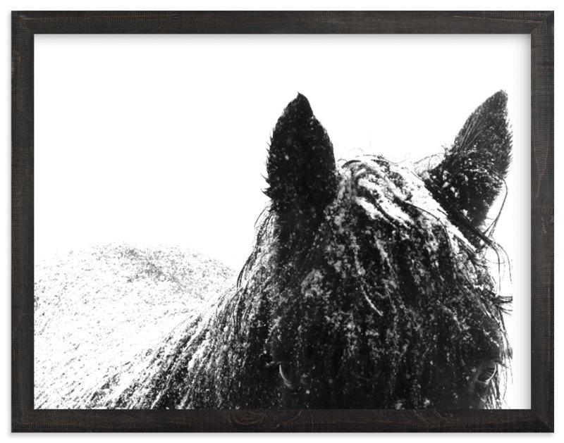 """""""Snowstorm"""" - Art Print by Leslie Le Coq in beautiful frame options and a variety of sizes."""