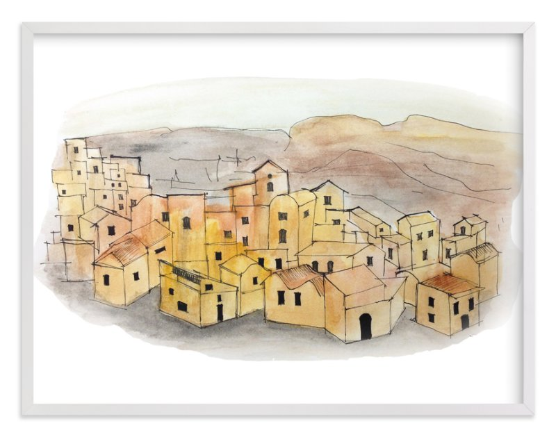 """""""Sunset on a Village"""" - Art Print by Haley Moore in beautiful frame options and a variety of sizes."""
