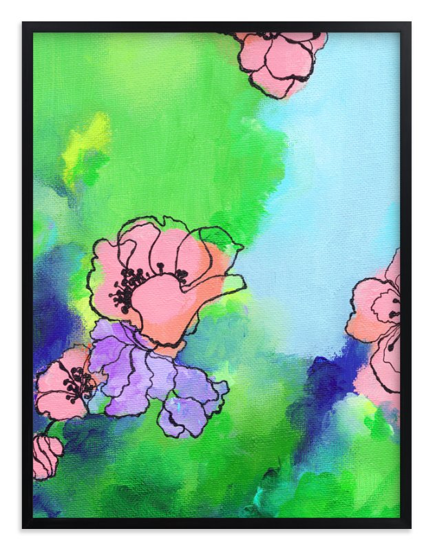 """Garden Stroll"" - Art Print by Sonal Nathwani in beautiful frame options and a variety of sizes."