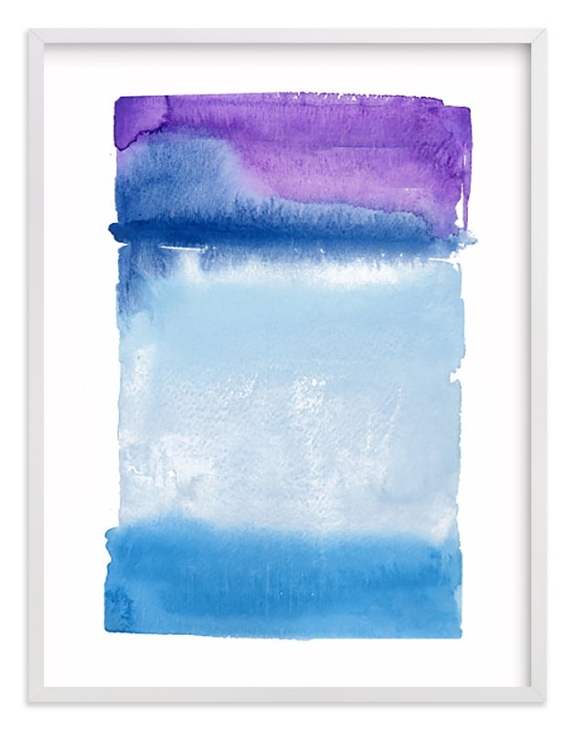 """""""Violet Horizon"""" - Art Print by Chelsey Scott in beautiful frame options and a variety of sizes."""