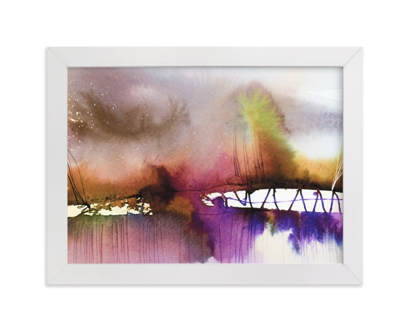 """""""Landsplashes Series : Bridge"""" - Art Print by V E R Y M A R T A in beautiful frame options and a variety of sizes."""