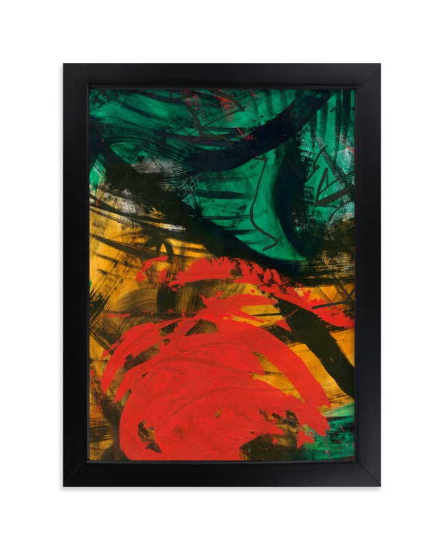 """Vibrant Green and Red Series 1"" - Art Print by Angela Simeone in beautiful frame options and a variety of sizes."