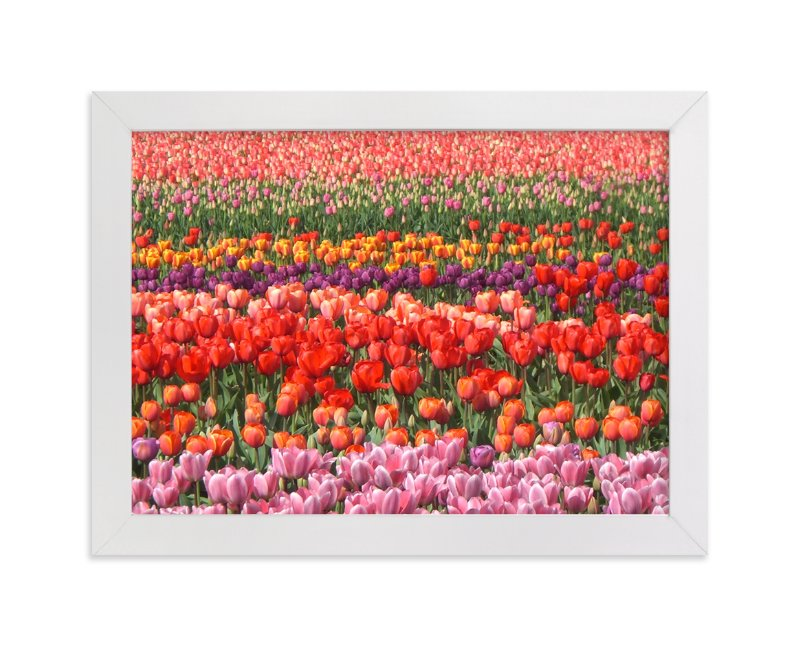 """Tulip Power"" - Art Print by Jan Kessel in beautiful frame options and a variety of sizes."