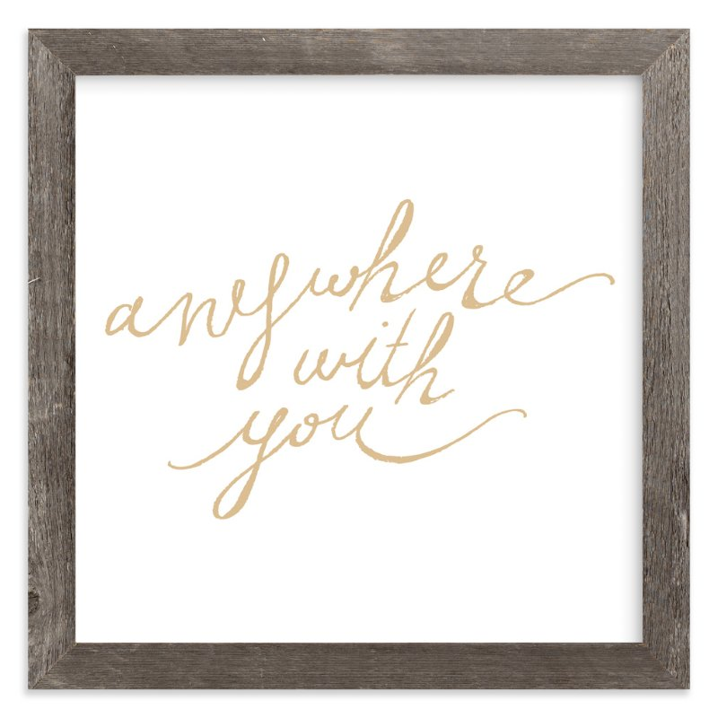 """Anywhere with You"" - Art Print by hey paper moon in beautiful frame options and a variety of sizes."