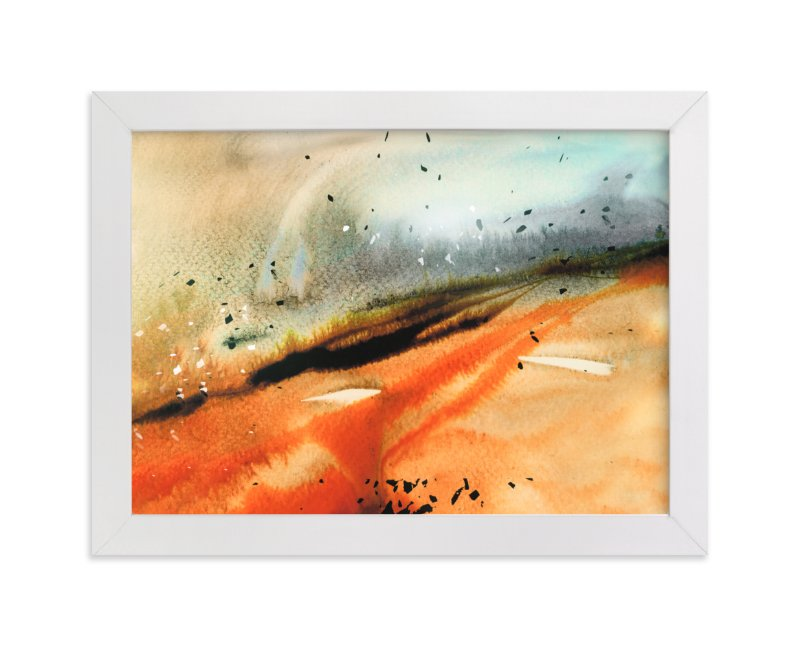 """""""Landsplashes Series : Fields"""" - Art Print by Marta Spendowska in beautiful frame options and a variety of sizes."""