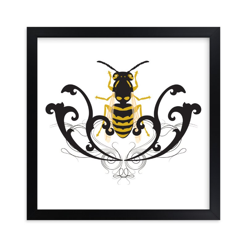"""""""Golden Beetle"""" - Art Print by Katrina Leandro in beautiful frame options and a variety of sizes."""