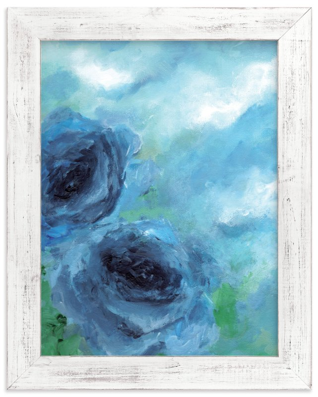 """Cloud Roses"" - Art Print by Sonal Nathwani in beautiful frame options and a variety of sizes."